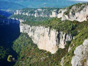 vistas desde arriba de la Hoz de Tragavivos