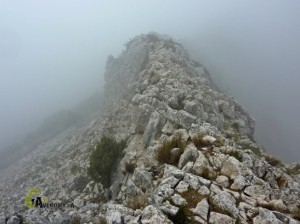 senderismo en la sierra de l'Aixorta