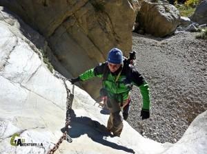 dificultades en el barranco del rio Lucena