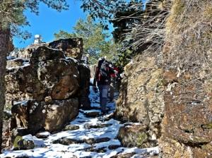 subida invernal al Peñarroya