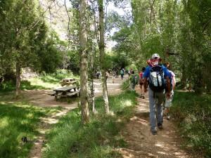 Área recreativa en el río Ebrón