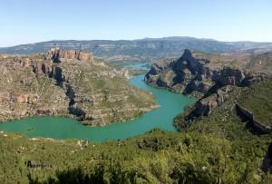 vistas hacia el cañón del Jucar
