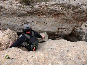 Agujero en la roca