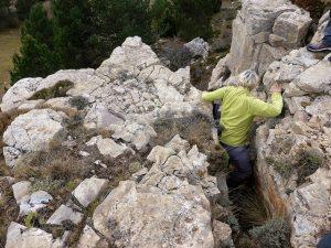 escalones rocosos en los cinglos de Marcén