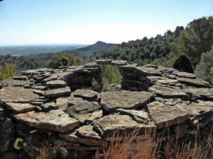 construcción en piedra seca en Espadan