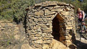 construcción de piedra en seco