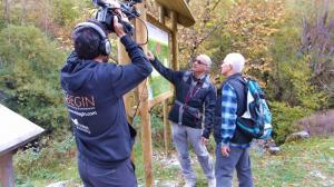 Momentos de la grabación en la ruta del valle del Roncal