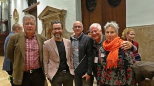 En esta ocasión con mis compañeros Jesus Morant, Catherine, Santiago Oma y el Chef alicantino con tres estrellas michelin Quique Dacosta