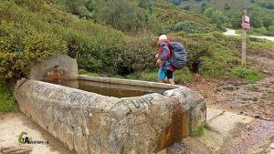 Fuente en el Camino Natural en Asturias