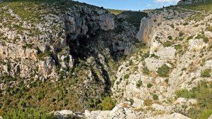 Vistas del barranco de les Pedroses